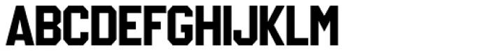 IronOn Gothic Font UPPERCASE