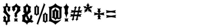Ironhorse Font OTHER CHARS