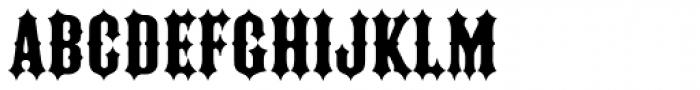 Ironrider Font UPPERCASE