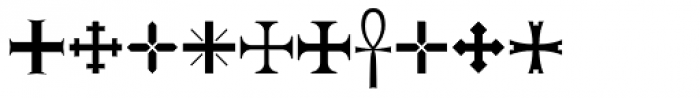 Ironside Crosses Font OTHER CHARS