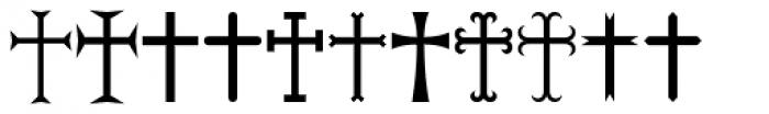 Ironside Crosses Font UPPERCASE