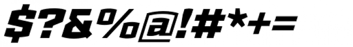 Ironstrike Black Italic Font OTHER CHARS
