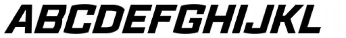 Ironstrike ExtraBold Italic Font UPPERCASE