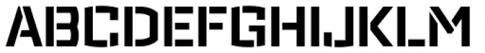 Ironstrike Stencil Bold Font UPPERCASE