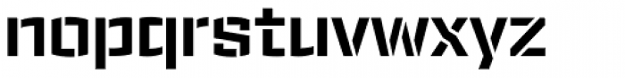 Ironstrike Stencil Bold Font LOWERCASE