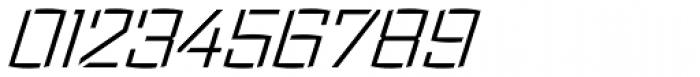 Ironstrike Stencil Light Italic Font OTHER CHARS