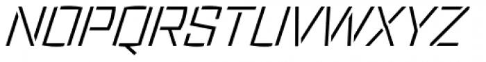 Ironstrike Stencil Light Italic Font UPPERCASE