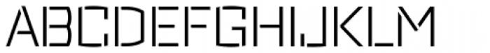 Ironstrike Stencil Light Font UPPERCASE