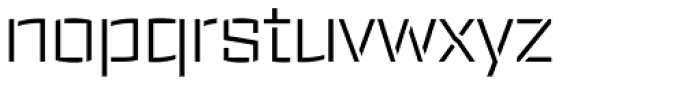 Ironstrike Stencil Light Font LOWERCASE
