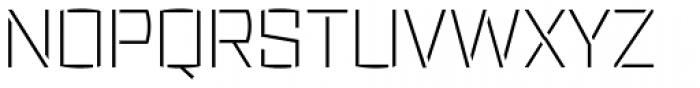 Ironstrike Stencil Thin Font UPPERCASE