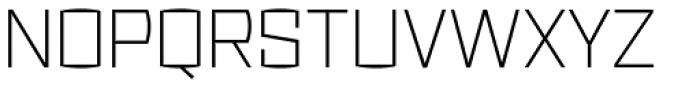 Ironstrike Thin Font UPPERCASE