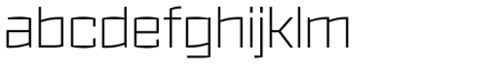 Ironstrike Thin Font LOWERCASE