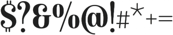 Isabel Condensed Bold otf (700) Font OTHER CHARS