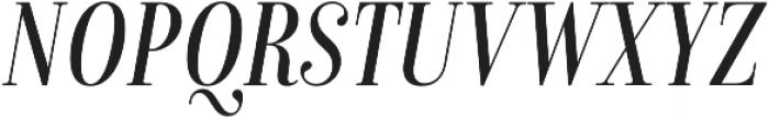 Isabel Condensed Light-Italic otf (300) Font UPPERCASE