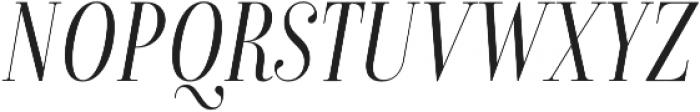 Isabel Condensed Thin-Italic otf (100) Font UPPERCASE
