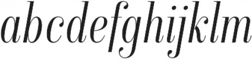 Isabel Condensed Thin-Italic otf (100) Font LOWERCASE