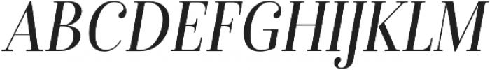 Isabel SemiCondensed Light-Italic otf (300) Font UPPERCASE