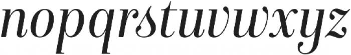 Isabel SemiCondensed Light-Italic otf (300) Font LOWERCASE