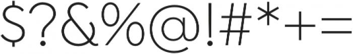Isidora Sans Alt Light otf (300) Font OTHER CHARS