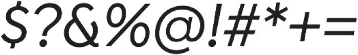 Isidora Sans Alt Medium It otf (500) Font OTHER CHARS