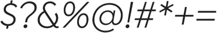 Isidora Sans Alt Regular It otf (400) Font OTHER CHARS