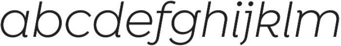 Isidora Sans Alt Regular It otf (400) Font LOWERCASE