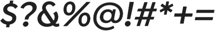 Isidora Sans Alt SemiBold It otf (600) Font OTHER CHARS