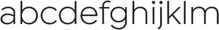Isidora Sans otf (400) Font LOWERCASE