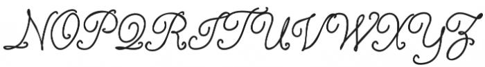 Israquella_Monoline otf (400) Font UPPERCASE