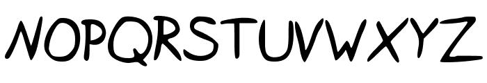 IsaacSans Font UPPERCASE