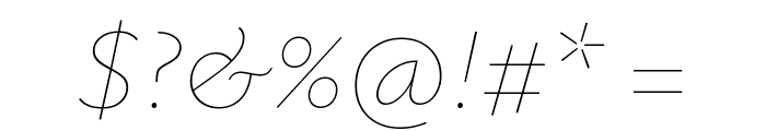 Isabella Sans Thin Italic Font OTHER CHARS