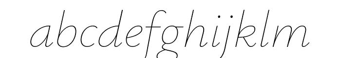 Isabella Sans Thin Italic Font LOWERCASE