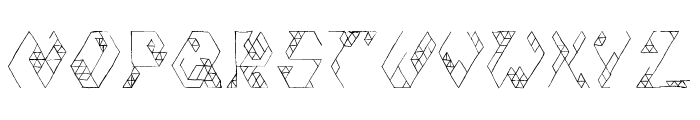 Iso Font UPPERCASE