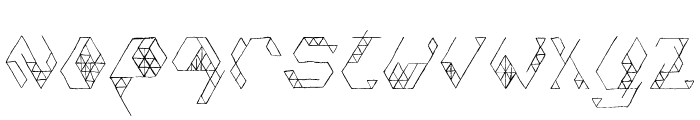 Iso Font LOWERCASE