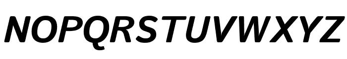 Istok Bold Italic Font UPPERCASE