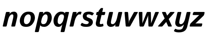Istok Bold Italic Font LOWERCASE