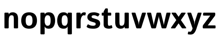 Istok Bold Font LOWERCASE