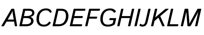 Istok Italic Font UPPERCASE