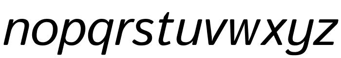 Istok Italic Font LOWERCASE