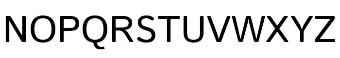 Istok Regular Font UPPERCASE