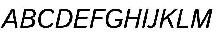 Istok Web Bold Italic Font UPPERCASE