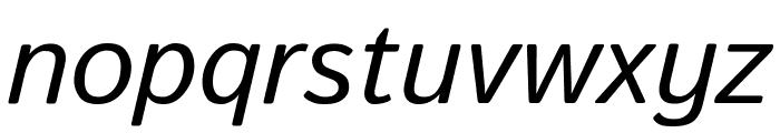 Istok Web Italic Font LOWERCASE