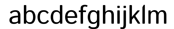 Istok Web Regular Font LOWERCASE