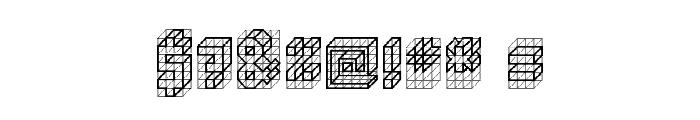 isometric bold Regular Font OTHER CHARS