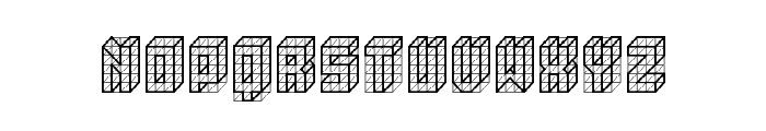 isometric bold Regular Font UPPERCASE
