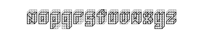 isometric bold Regular Font LOWERCASE