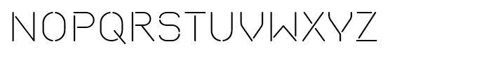 Isometrik Extra Light Font UPPERCASE