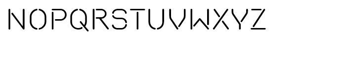 Isometrik Light Font UPPERCASE