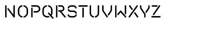 Isometrik Regular Font UPPERCASE