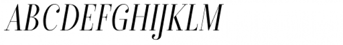 Isabel Condensed Thin Italic Font UPPERCASE
